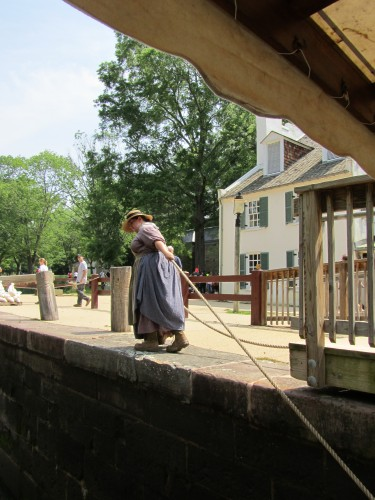 As are the sturdy wenches who pull the barge.