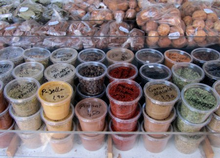 Any kind of spice you like. The smell walking past  these stands is pretty awesome.