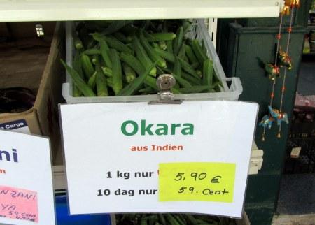 Okra! Just $10 a kilo.