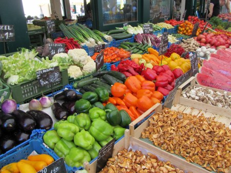 The Naschmarkt is overcrowded but undeniably has nice produce.