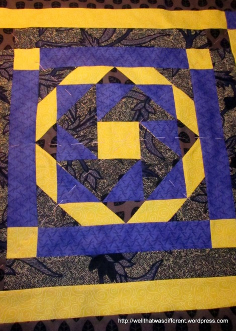 Basted and ready for quilting.