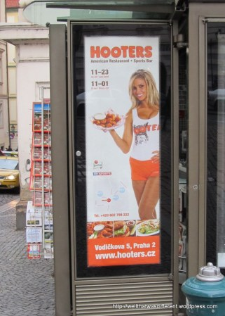 Yes, Hooters has come to Prague. Stalin is rolling in his grave.