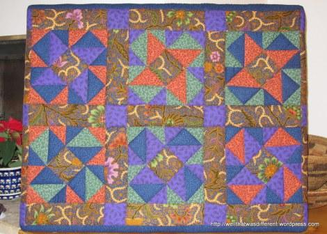 Indonesian batik and American calico scraps.