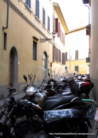 Mopeds as far as the eye can see.