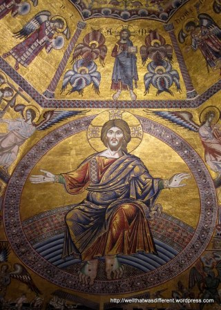 Inside the Baptistery--completely awesome 13th century mosaics.
