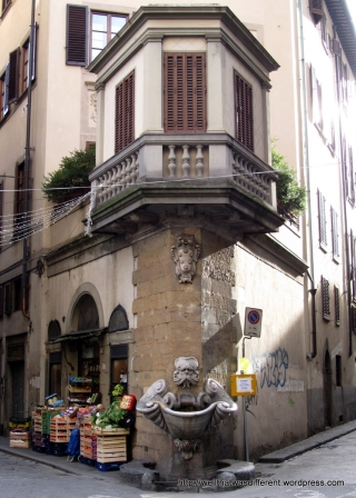 Cool fountain near the Porta Romana.