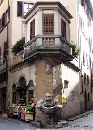 Cool fountain near the Porta Romana.