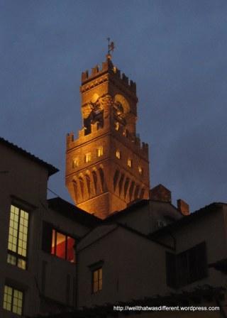 Palazzo Vecchio by night.