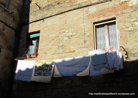 Sun = laundry day in Italy.