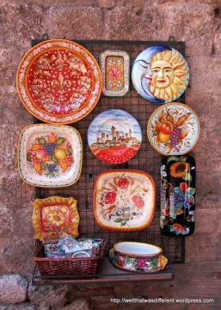 Ceramics shop.