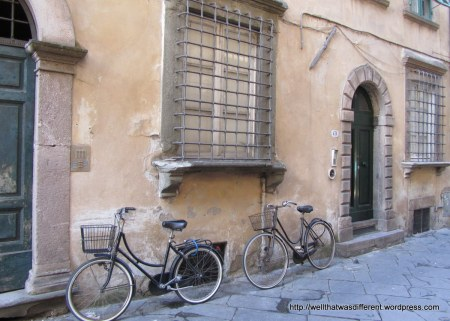 Bikes are the main transport inside the walls.