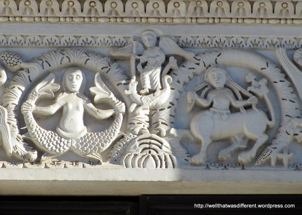Medieval frieze at San Michele in Lucca. Awesome.