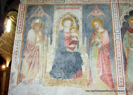 Medieval frescoes in San Giusto,