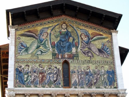 Awesome medieval mosaic at San Frediano.