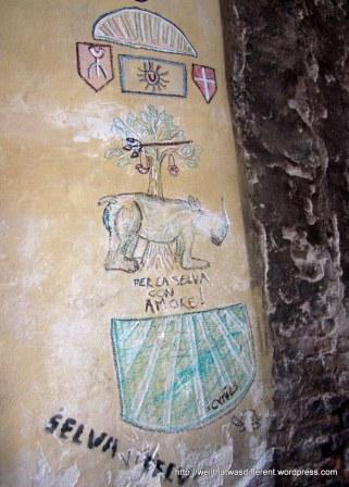 Contrade graffiti in La Selva turf.