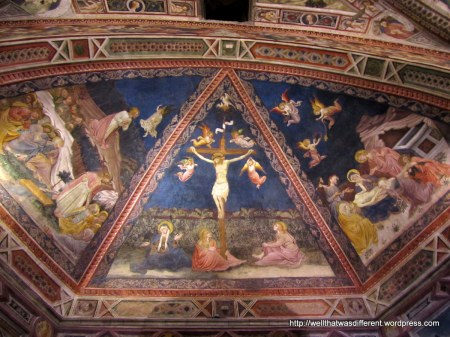 Fresco in the Baptistery.