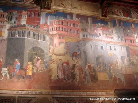 Happy peasants in the Palazzo.
