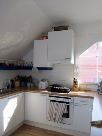 So long, hot, dinky, cheapest-you-can-get-from-Ikea attic kitchen...