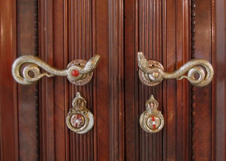 Even the door handles were designed by the architect, Theophil von Hansen, and are super fancy.