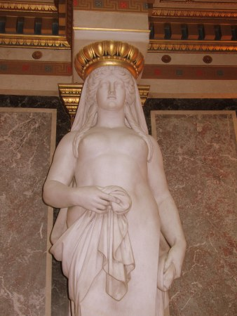 Statue from the hall.