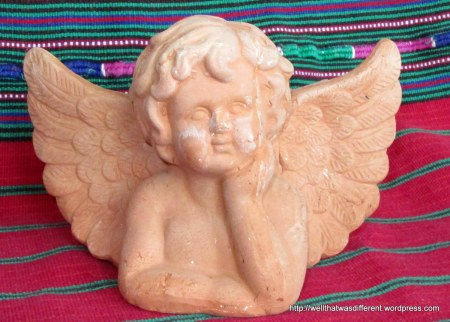 And this little terra-cotta angel pretty much made my day!