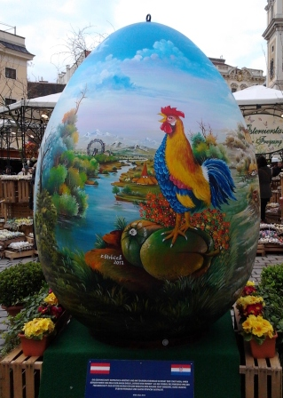 Starring a really, really huge hand-painted egg.