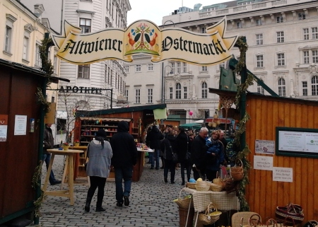 Next stop: the Old Vienna Easter Market at the Freyung downtown.