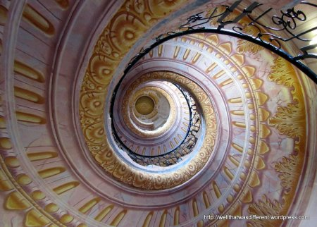 Very cool spiral staircase.