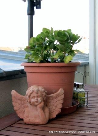 My terra-cotta cherub is good company.