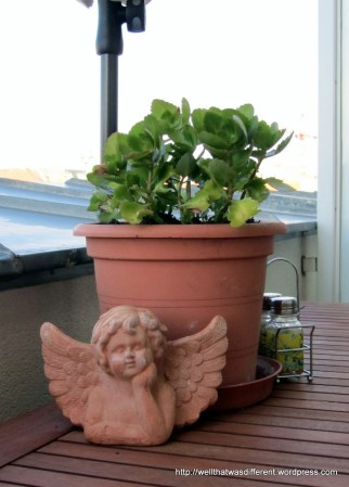 My terra-cotta cherub is good company.