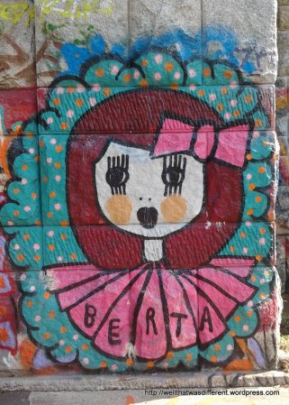 """Only in Vienna--graffiti tagged by """"Berta."""""""