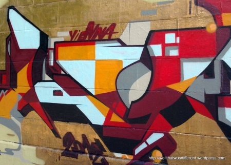 With warmer weather, fresh graffiti is springing up along the Donaukanal.