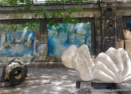 This was some kind of canalside show of street art--painting and sculpture.