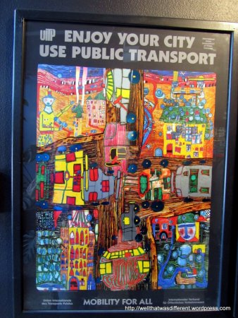 Hundertwasser donated his design skills to many environmental causes, producing many beautiful posters and ads over the course of his career.