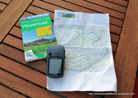 Official trail map, printout from the web, and fully loaded GPS.