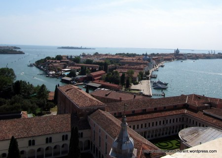 View from the bell tower of San Giorgio Maggiore.