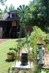 Yard art windmill. I think it is magnificent :)