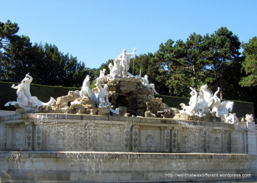 The Neptune fountain.