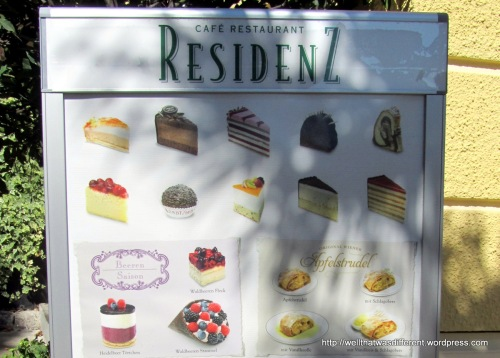 At the Residenz Cafe: cakes that I did not eat. This time.