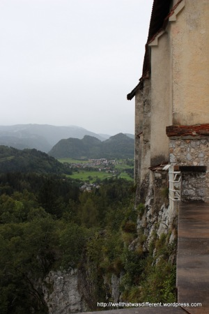 View of the countryside from the castle.
