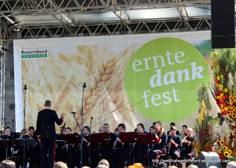 """The band du jour. There always seems to be a band at these festivals, usually music students.  They are very good at marches, but should probably avoid songs from """"Fame"""" and """"Flashdance."""""""
