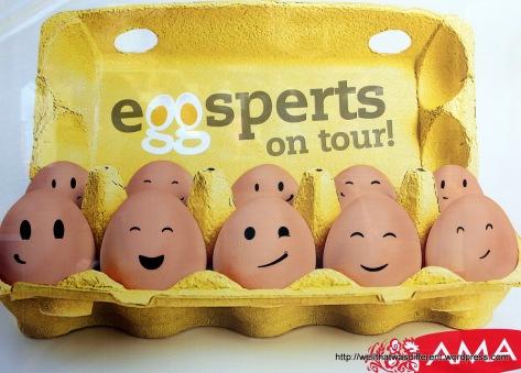 A booth where all your egg questions can be answered by Eggsperts.