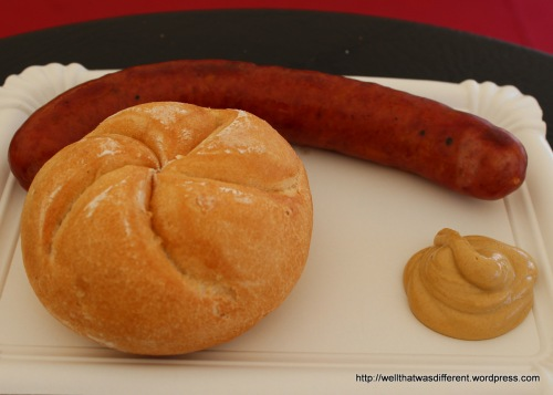 This wild boar and cheese sausage (wildkasekrainer) was AWESOME.