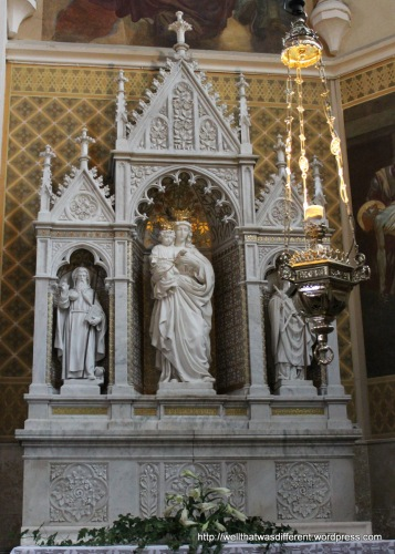 Altar in the church.