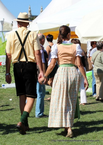 Cute couple.  Couples often match their trachten, I have noticed, like square-dancing partners in the States.
