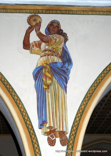 The first dancing girl I have ever seen in a church. There were several of these where normally there would be angels.  I thought that was pretty neat.