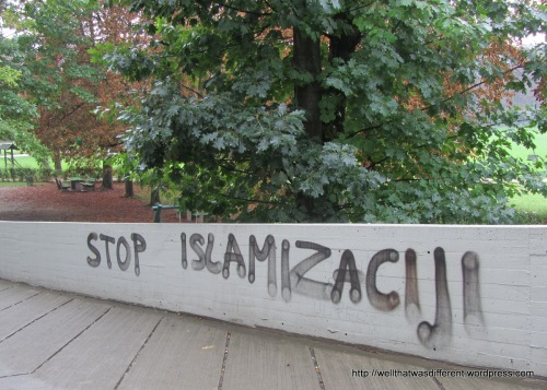 """Stop Islamicization."" Unfortunately, some things never change in Europe."