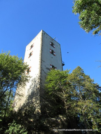 Burg Greifenstein, a 12th century castle that was once a tourist attraction but is now abandoned and filled with crows. Kind of creepy.
