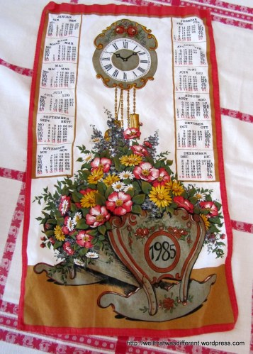 I love these funky old kitchen cloths.  They are nice, soft linen, too.