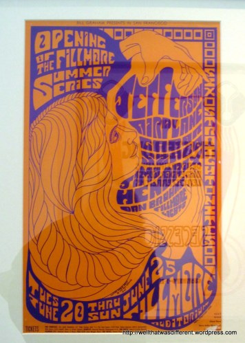A Jefferson Airplane poster displayed to show that the Secession style either persisted until or came back in the sixties. (The placard was in German, sorry.)
